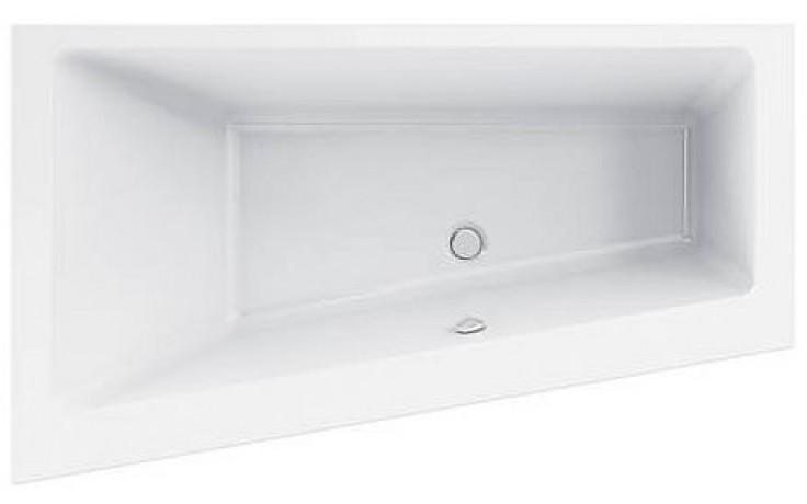 Vana plastová Ideal Standard klasická Strada asymetrická 170x100 cm bílá