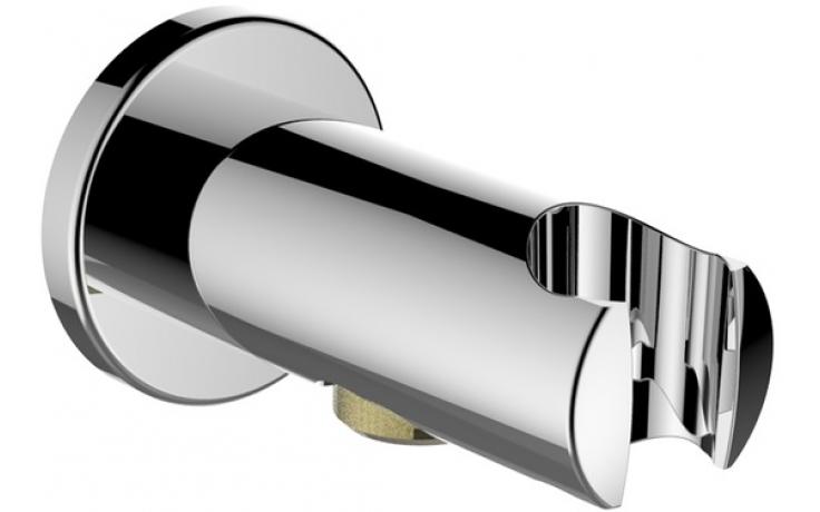 LAUFEN TWINCURVE připojení sprchové hadice s nástěnným držákem ruční sprchy, chrom 3.6398.0.004.152.1
