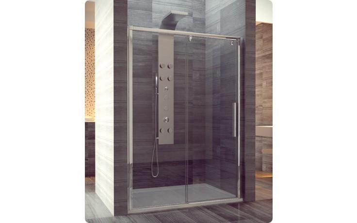 PLS2: Jednodílné posuvné dveře s pevnou stěnou v rovině