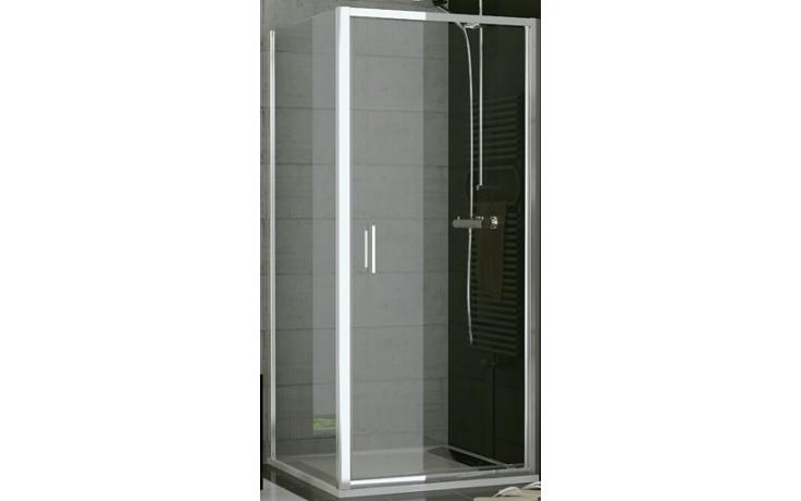 SANSWISS TOP LINE TOPF boční stěna 800x1900mm, matný elox/sklo Durlux