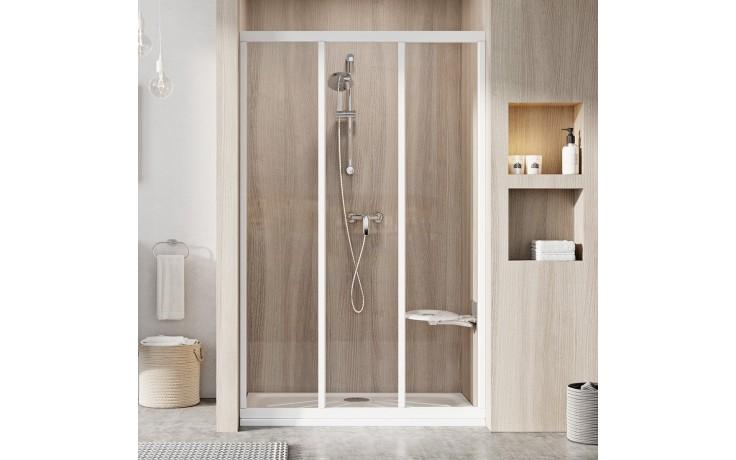 RAVAK SUPERNOVA ASDP3 80 sprchové dveře 770-810x1880mm třídílné, posuvné, bílá/transparent