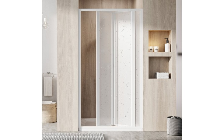 RAVAK SUPERNOVA SDZ3 90 sprchové dveře 870-910x1850mm, třídílné, zalamovací, bílá/pearl