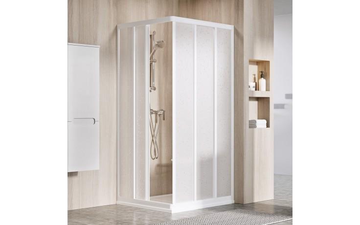 RAVAK SUPERNOVA ASRV3 90 sprchové dveře 870-890x1880mm, posuvné, třídílné, bílá/pearl