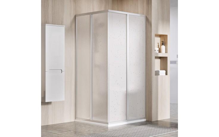 RAVAK SUPERNOVA SRV2-S 90 sprchové dveře 870-890x1850mm, jeden díl, satin/pearl