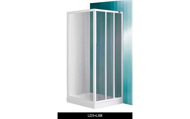 ROTH PROJEKT LD3/950 sprchové dveře 950x1800mm posuvné, bílá/damp