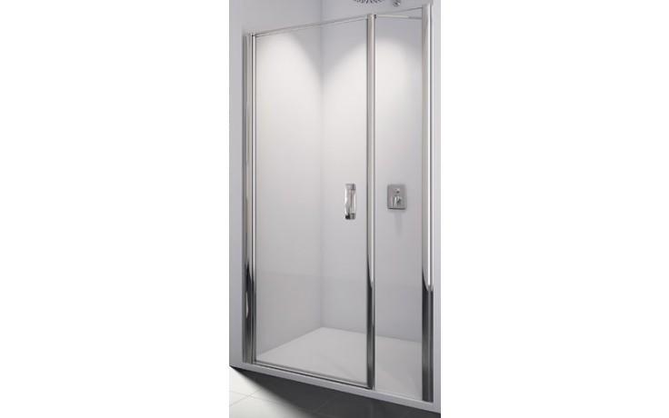 SANSWISS SWING LINE SL31 sprchové dveře 900x1950mm jednokřídlé, s pantem u zdi a s pevnou stěnou v rovině, aluchrom/sklo Durlux