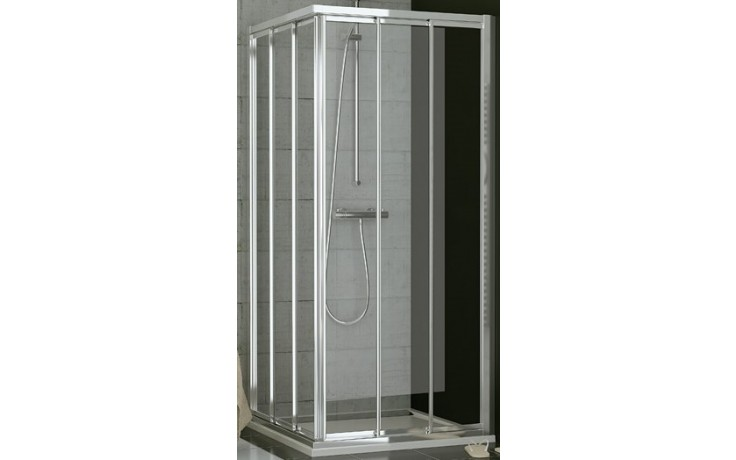 SANSWISS TOP LINE TOE3 D sprchové dveře 1200x1900mm, třídílné posuvné, pravý díl pro rohový vstup, aluchrom/čiré sklo