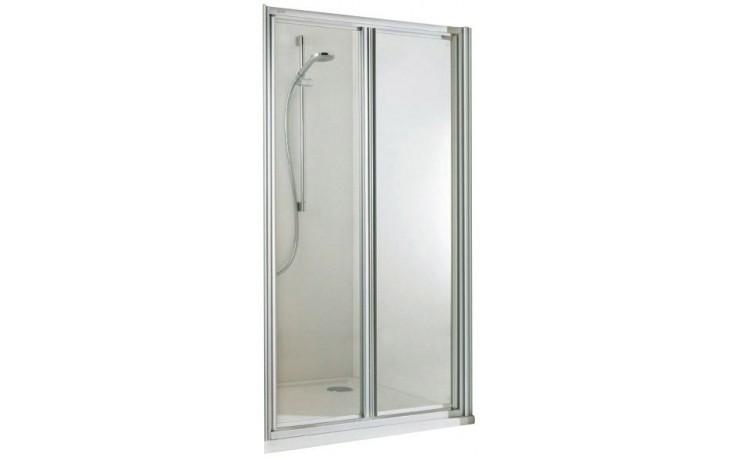 CONCEPT 100 sprchové dveře 800x1900mm lítací, stříbrná/matný plast