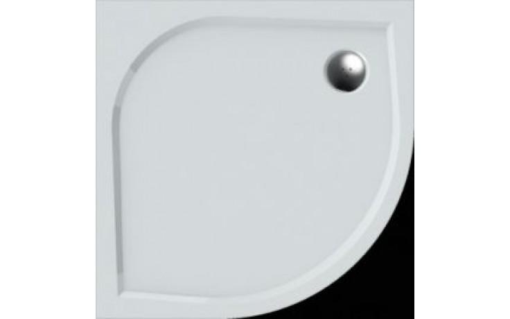 Vanička drcený mramor Teiko čtvrtkruh Virgo 80 litá, vč.noh 80x80x3cm bílá