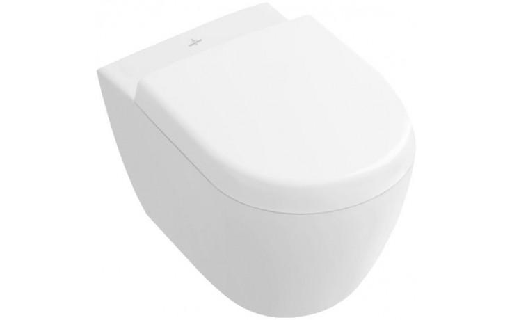 WC závěsné Villeroy & Boch odpad vodorovný Subway 2.0, hluboké splachování kompakt 355x480mm Bílá Alpin