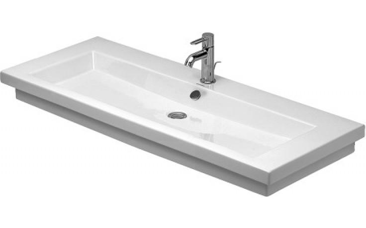 DURAVIT 2ND FLOOR umyvadlo do nábytku 1200x505mm s přetokem, bílá/wonder gliss 04911200261