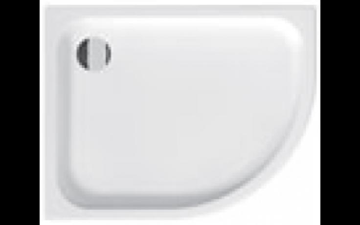 JIKA TIGO sprchová vanička 1000x800x85mm, keramická, asymetrická, levá, bílá