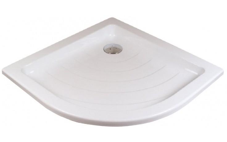 RAVAK RONDA 90 LA sprchová vanička 910x910mm, akrylátová, čtvrtkruhová, bílá