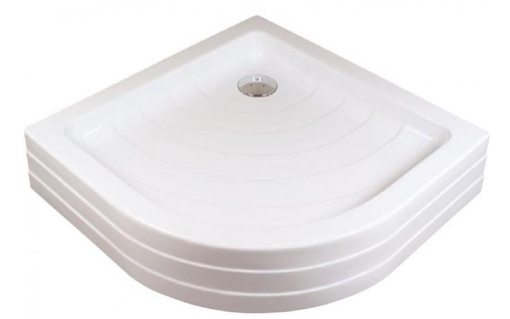 RAVAK RONDA 90 PU sprchová vanička 910x910mm, akrylátová, čtvrtkruhová, bílá