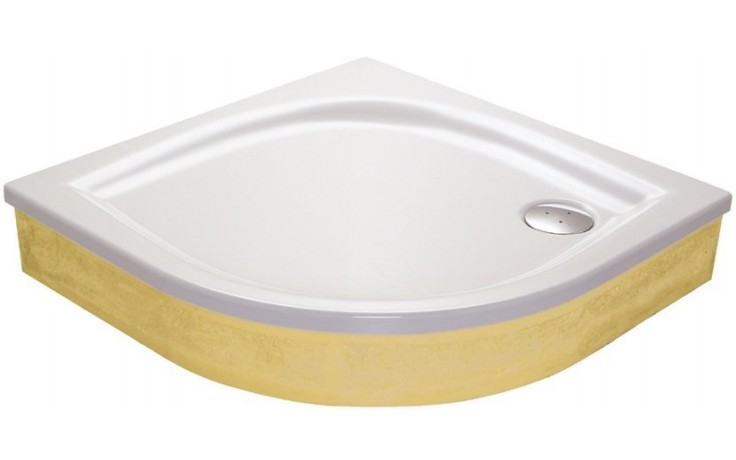 RAVAK ELIPSO 100 EX sprchová vanička 1000x1000mm, akrylátová, čtvrtkruhová, bílá