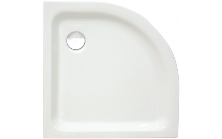 CONCEPT 100 sprchová vanička 800x800mm akrylátová, čtvrtkruh, R 504mm, bílá 56480001000
