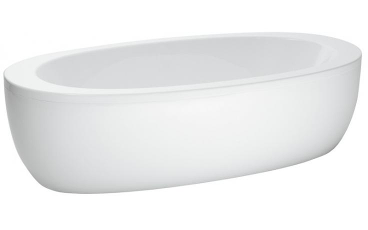 LAUFEN ILBAGNOALESSI ONE samostatně stojící vana 2030x1020mm s rámem, senzor, LED osvětlení, vzduchová/vodní masáž, bílá