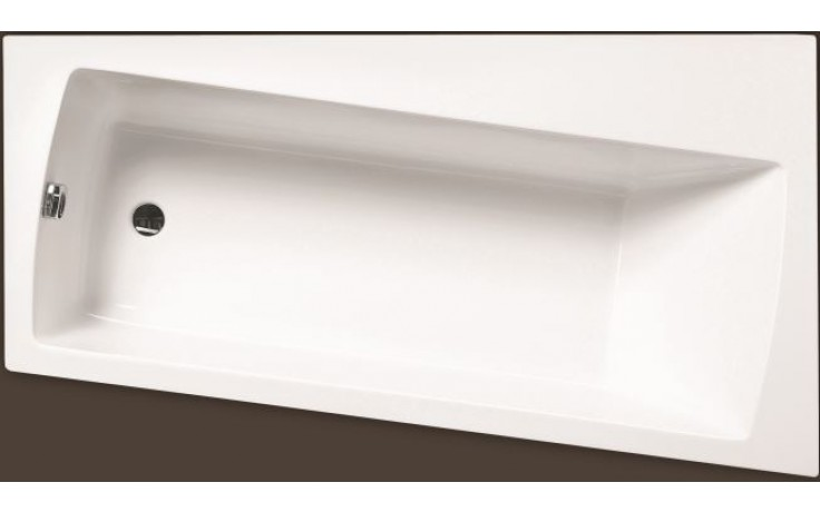 SANTECH EMO vana 165x90cm, bez nožiček, asymetrická, levá, akrylát, bílá