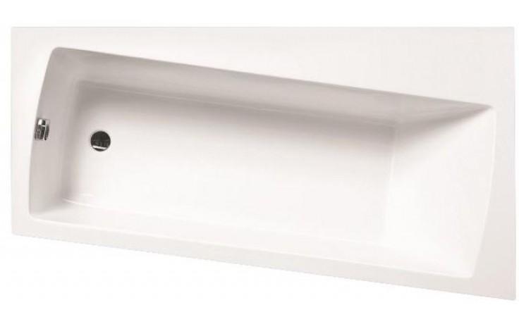 SANTECH EMO vana 165x90cm, bez nožiček, asymetrická, pravá, akrylát, bílá