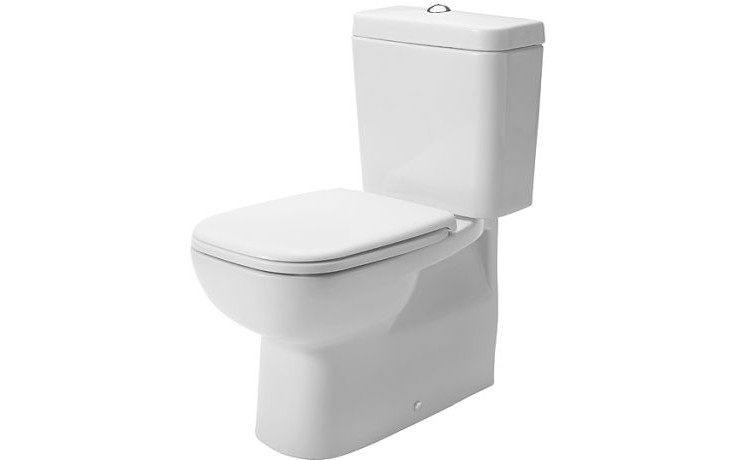 WC kombinované Duravit odpad vario D-code s hlubokým splachováním bez nádrže 35,5x65 cm bílá