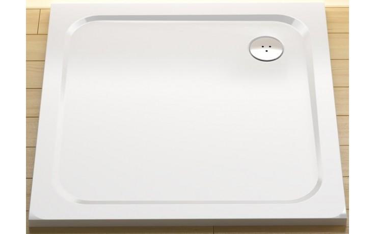 Vanička litý mramor Ravak čtverec PERSEUS PRO 90 CHROME 90x90 cm bílá