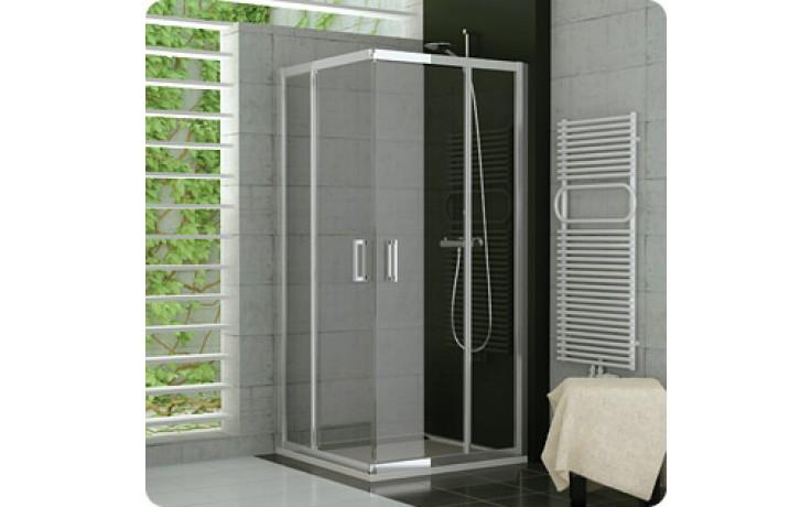 SANSWISS TOP LINE TED2 sprchové dveře 900x1900mm, dvoudílné, rohový vstup, pravý díl, matný elox/čirá