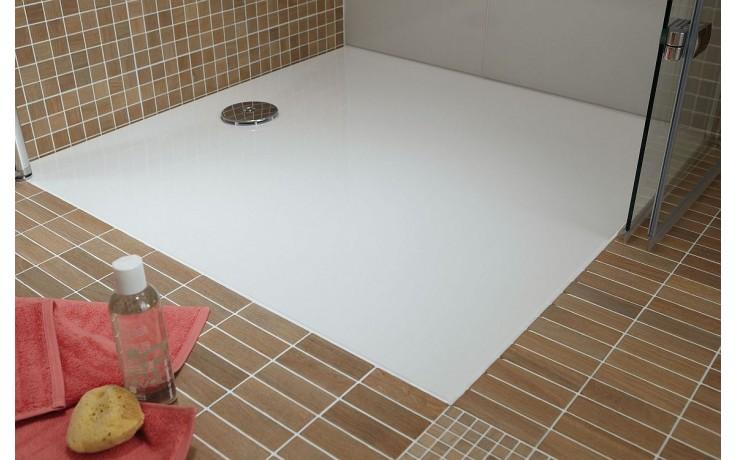 HÜPPE EASY STEP vanička 800x800mm, litý mramor, bílá