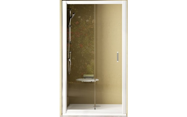 RAVAK RAPIER NRDP2 110 sprchové dveře 1070-1110x1900mm dvoudílné, posuvné, pravé, bílá/transparent 0NND010PZ1