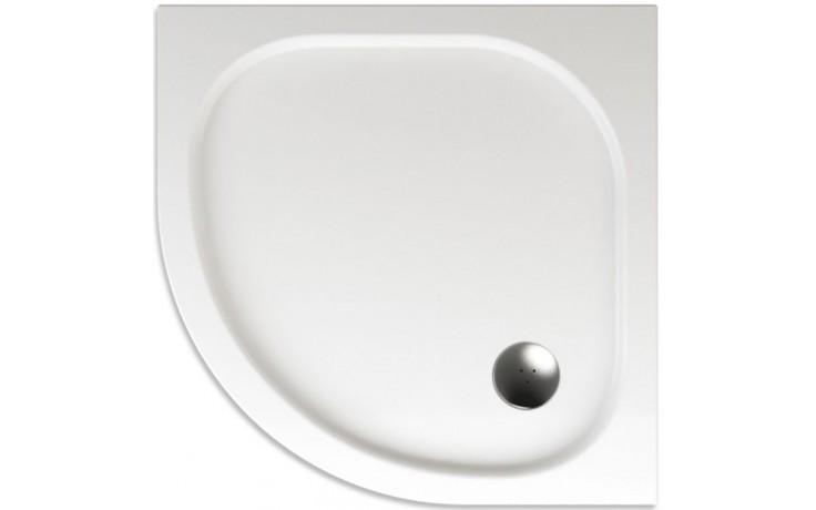 TEIKO CAPELLA sprchová vanička 80x80x3,5cm, R50cm, čtvrtkruh, akrylát, bílá