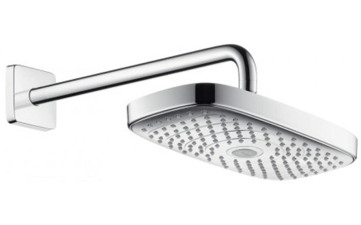 HANSGROHE RAINDANCE SELECT E 300 2JET horní sprcha se sprchovým ramenem bílá/chrom 27385400