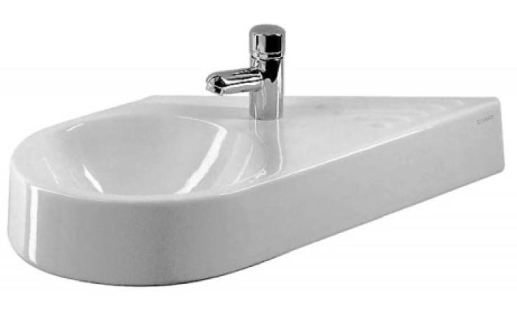 Umývátko klasické Duravit s otvorem Architec asymetrické levé bez přetoku 64,5x41 cm bílá