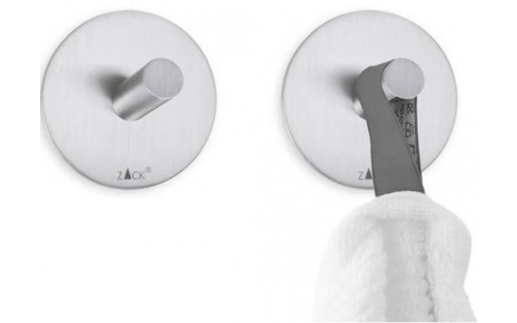 ZACK DUPLO sada háčků Ø4,5cm, kruhové, nerez ocel/vysoký lesk
