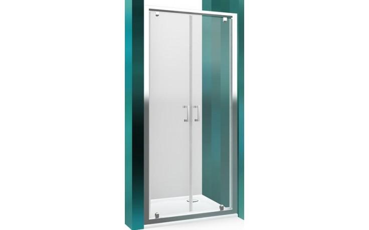 ROLTECHNIK LEGA LINE LLDO2/700 sprchové dveře 700x1900mm dvoukřídlé pro instalaci do niky, rámové, brillant/transparent