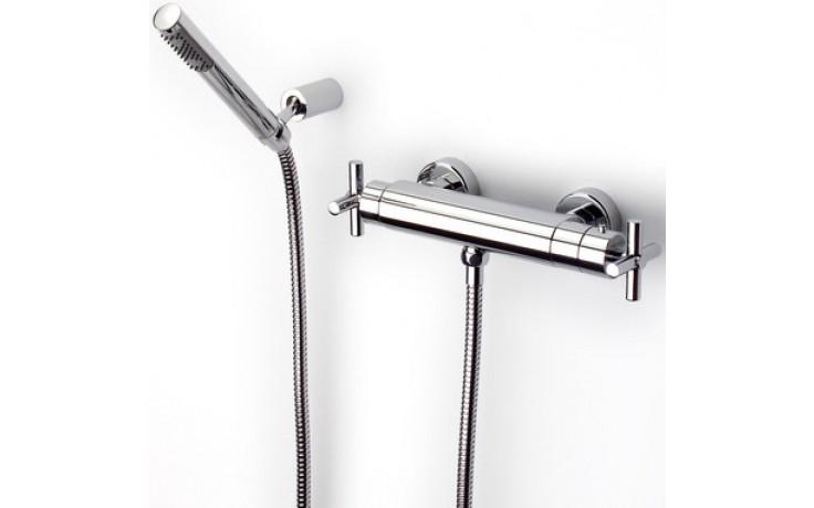 ROCA LOFT sprchová termostatická kohoutová baterie se sprchou, hadicí a držákem chrom 75A1343C00