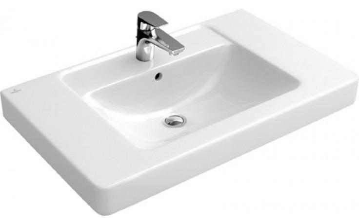 Umyvadlo klasické Villeroy & Boch s otvorem Verity Design 800x485mm Bílá Alpin Ceramicplus