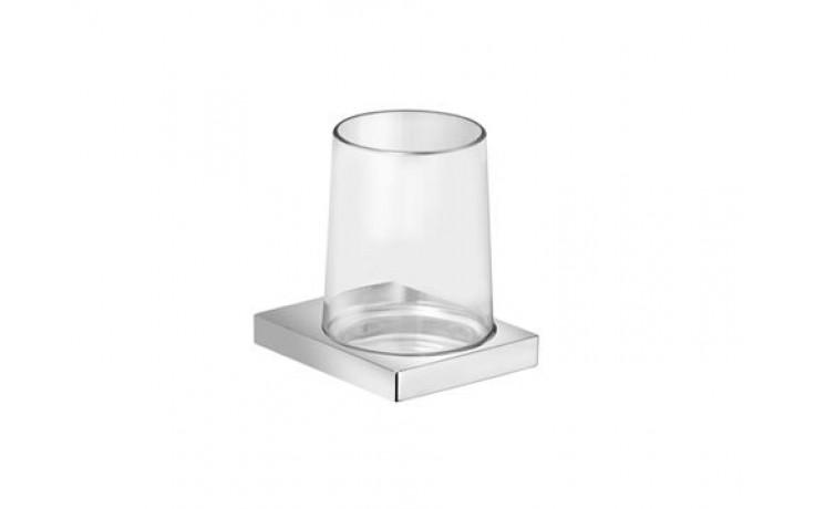 Doplněk držák se skleničkou Keuco Edition 11  křišťálové sklo/chrom