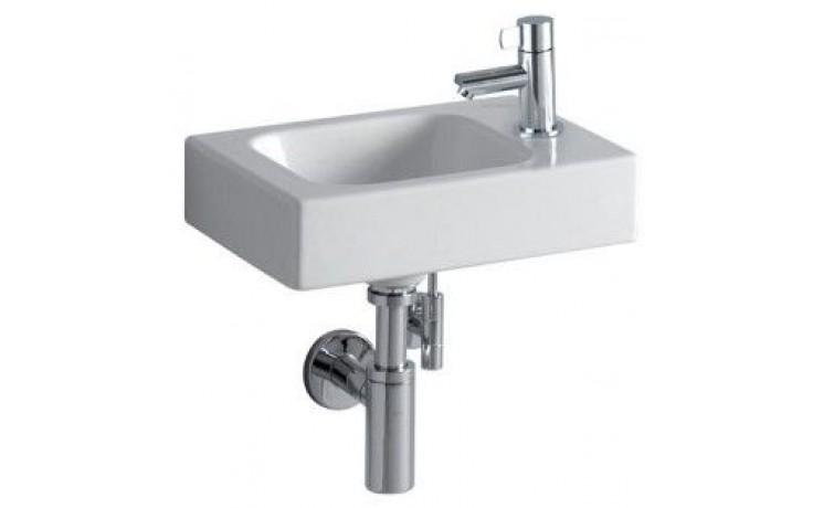 Umývátko klasické Keramag s otvorem iCon s otvorem vpravo 38x28 cm bílá