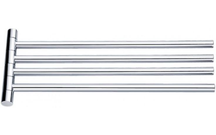 NIMCO BORMO držák na ručníky 420x20x180mm otočný, se čtyřmi rameny, chrom BR 11096-4-26