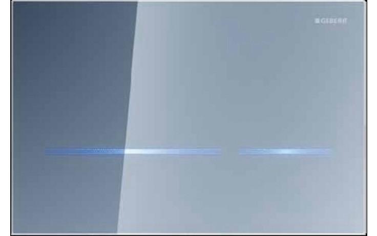 GEBERIT ovládání WC Sigma 80, 24,7x16,4cm, elektronické, napájení ze sítě, sklo zrcadlové 116.090.SM.1