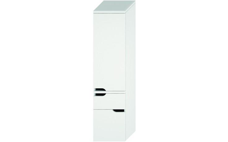 Nábytek skříňka Jika Mio new vysoká, pravé dvere 36,3x148,5x34 cm bílá-bílá