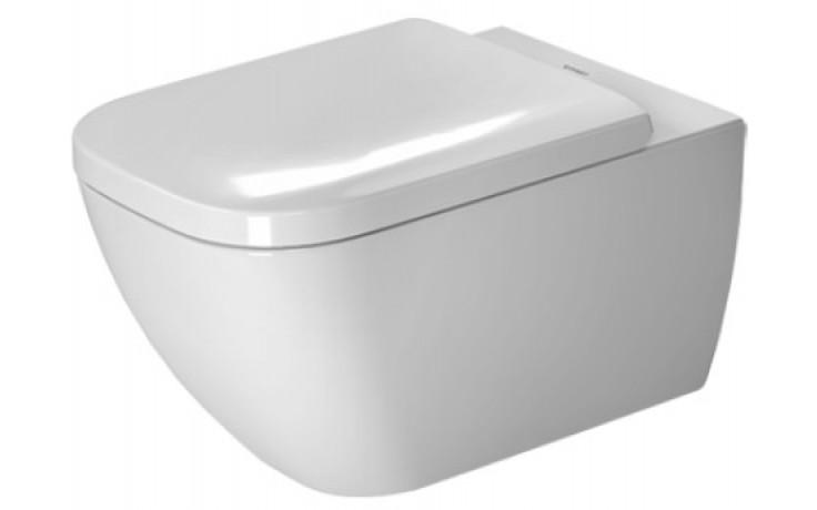 WC závěsné Duravit odpad vodorovný Happy D.2 36,5x54 cm bílá+WonderGliss