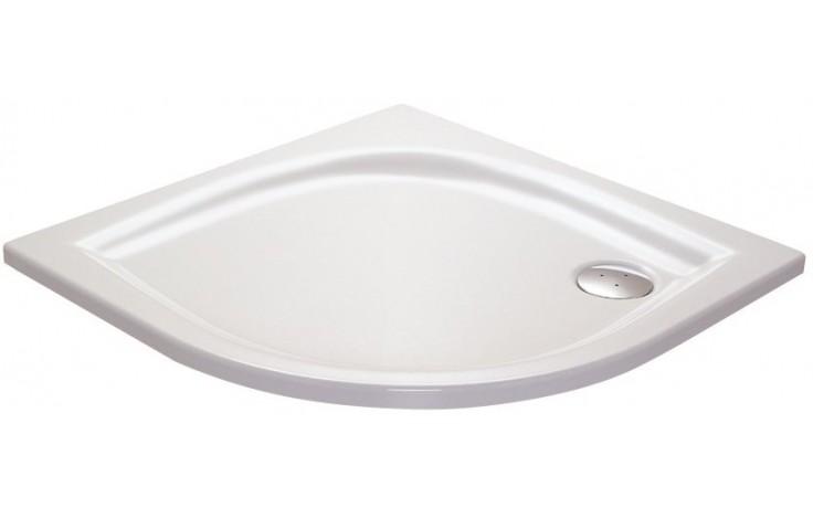 Vanička plastová Ravak čtvrtkruh ELIPSO 80 LA 80x80x3,5 R-50 bílá
