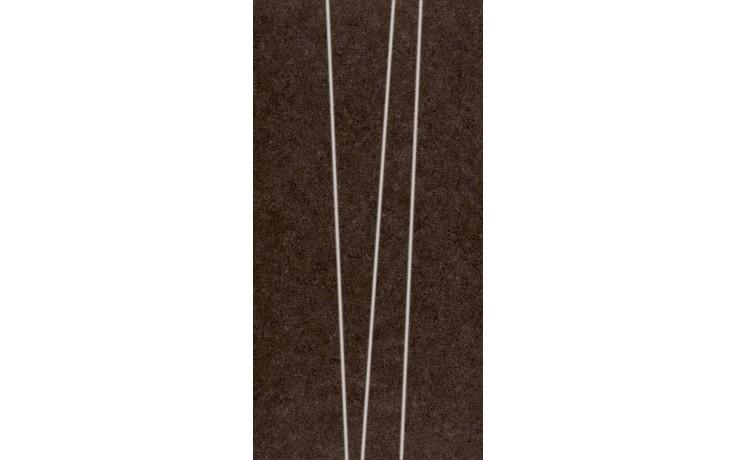 Dekor Rako Rock pruhy 30x60 cm hnědá