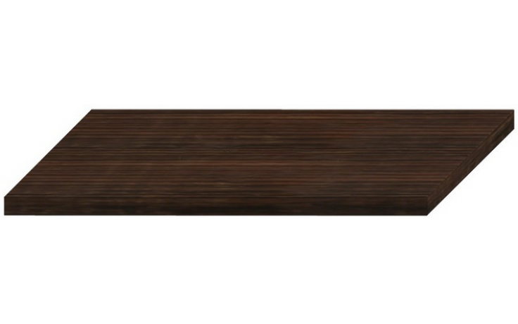 JIKA CUBITO-N deska 1200x467x38mm, umyvadlová, řezatelná, bez otvoru, tmavá borovice 4.6J42.0.010.461.1