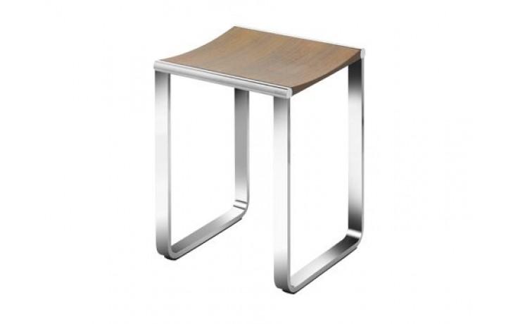 Nábytek ostatní Keuco Elegance stolička 340x365 mm chrom/ořechová dýha