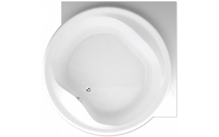 TEIKO BORNEO-R vana 177x177x49cm, kruhová, akrylát, bílá