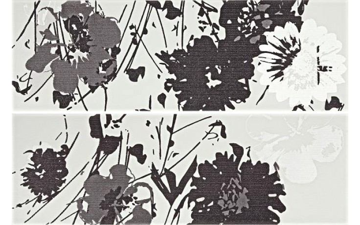 Dekor Rako Tendence 20x60 cm bíločerná