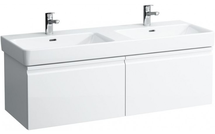LAUFEN PRO S skříňka pod umyvadlo 1260x450mm se 2 zásuvkami, bílá mat