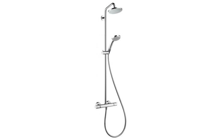 Baterie sprchová Hansgrohe nástěnná termostatická se sprchovým setem Croma 160 Showerpipe 150 mm chrom