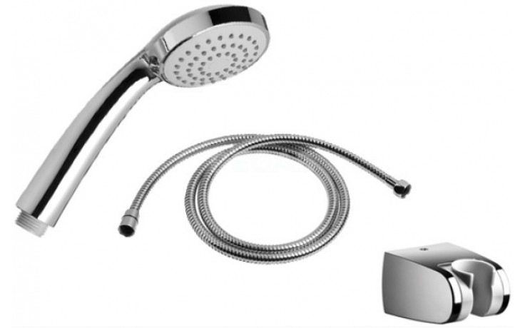 JIKA RIO sprchová sada ruční sprchy, držáku ruční sprchy a sprchové hadice 1,7m, chrom